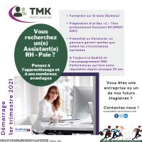 Vous recherchez un(e) Assistante(e) RH-Paie ? Pensez à l'apprentissage avec TMK Performances !