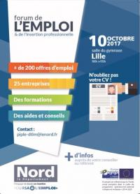 Forum de l'Emploi et de l'insertion Professionnelle - 10 Oct 2017 - Lille